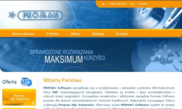 Zdjęcie projektu Proman Software