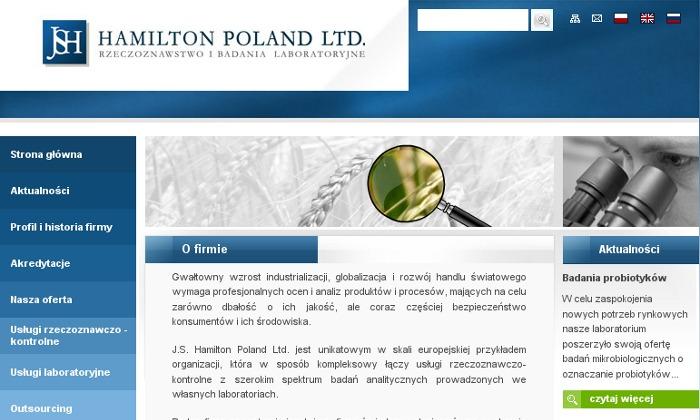 Zdjęcie projektu Hamilton Poland Ltd