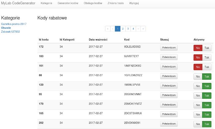 Zdjęcie projektu Generator kodów rabatowych + usługa API